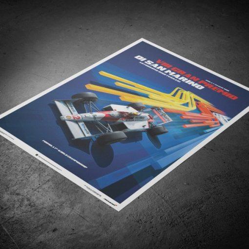 Ayrton Senna F1 San Marino Poster McLaren MP44 3