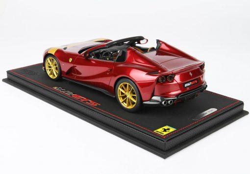 BBR 1 43 Ferrari 812 GTS Rosso Fiorano With Gold Stripe