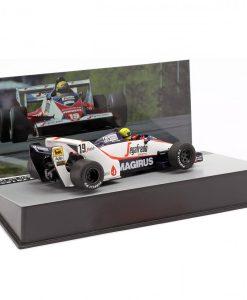 Modellino Atlas 143 Ayrton Senna Toleman TG183B 19 Brazil F1 GP 1984 3