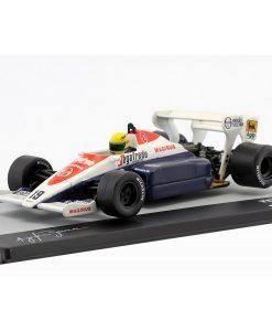 Modellino Atlas 143 Ayrton Senna Toleman TG184 19 3rd United Kingdom F1 GP 1984 3