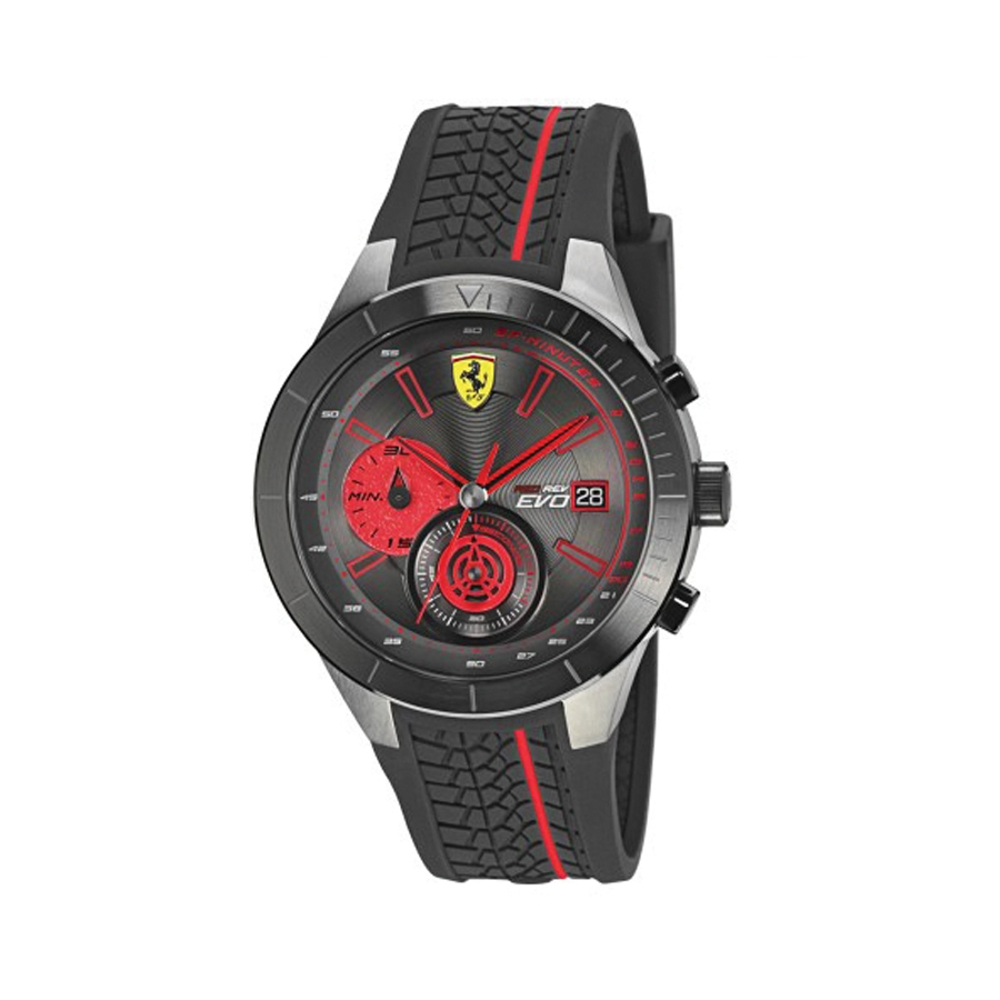 Men S Watch Scuderia Ferrari Red Rev Evo Motorsport Maranello