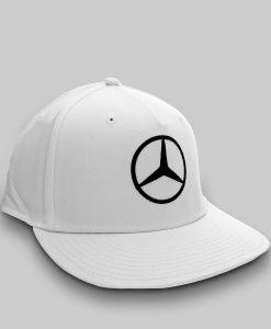 Hamilton Driver Visiera Piatta Bianco 3 4 dx