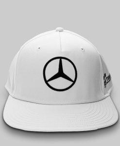 Hamilton Driver Visiera Piatta Bianco Fronte