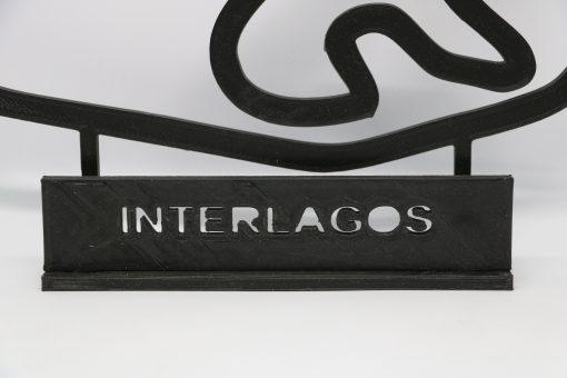 F1 Race track INTERLAGOS Brasil GP 24x20cm 1