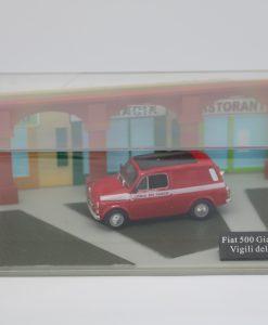 Hachette Fiat 500 Giardiniera Vigili del Fuoco DIORAMA