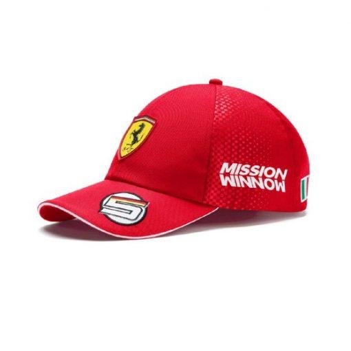 Cappellino Ferrari Sebastian Vettel F1 2019 fronte